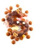 Lettre S décorée de chocolat pour Sinterklaas Photo stock