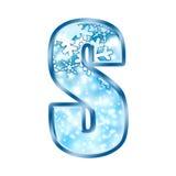 Lettre S d'alphabet de l'hiver Image stock