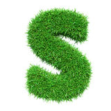 Lettre S d'herbe verte Photographie stock