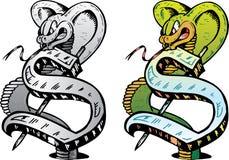 Lettre S De Type De Tatouage Illustration De Vecteur Illustration