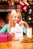 Lettre à Santa Photographie stock libre de droits