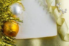 Lettre à Santa Claus Images libres de droits