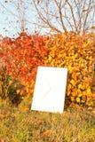 Lettre sur le fond d'automne Images libres de droits