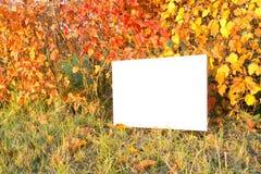 Lettre sur le fond d'automne Photo stock