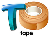 Lettre T illustration de vecteur