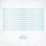 Lettre texturisée blanc avec des lignes et un bateau de papier Photographie stock libre de droits