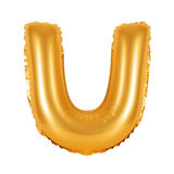 Lettre U d'orange d'alphabet anglais Image libre de droits