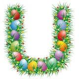 Lettre U de Pâques Photos stock