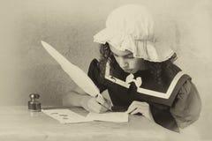 Lettre victorienne de vintage photo libre de droits