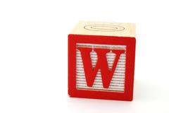 Lettre W Image libre de droits