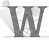 Lettre W illustration stock