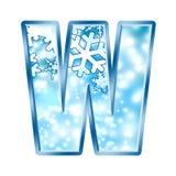 Lettre W d'alphabet de l'hiver Photos stock