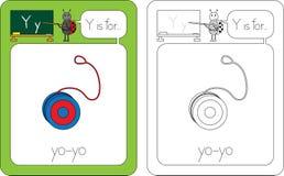 Lettre Y de Flashcard Images libres de droits