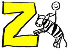 Lettre Z Photo libre de droits