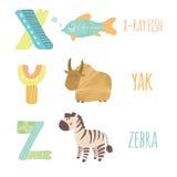 Lettre X-Z illustration stock