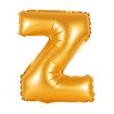 Lettre Z d'orange d'alphabet anglais Photo stock