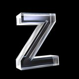 Lettre Z en glace 3D Images libres de droits