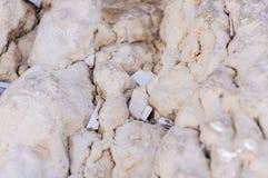 Lettres à Dieu poussé entre les pierres sur le mur occidental Image stock