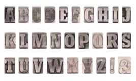 Lettres à plomb Photographie stock
