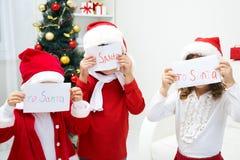 Lettres à Santa Photographie stock libre de droits