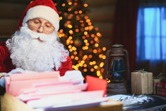 Lettres à Santa Photos stock