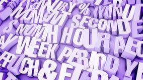 Lettres éclatées dans Violet Backdrop légère illustration stock