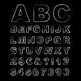 Lettres écrites dans la craie, alphabet tiré par la main de craie illustration libre de droits