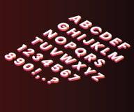 Lettres écrites de l'A-Z dans le concept isométrique d'illustration illustration de vecteur