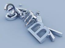 lettres 3D argentées Images stock