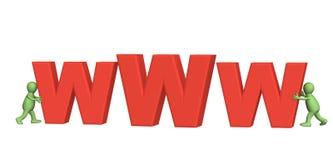 lettres 3d effectuant la marionnette WWW Image stock