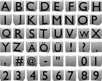 lettres 3D sur des cubes (capitaux) Illustration Libre de Droits