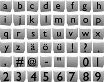 lettres 3D sur des cubes (petits) Illustration de Vecteur