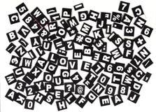 lettres Image libre de droits