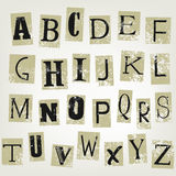 Lettres Image stock