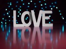 Lettres actuelles de Saint Valentin je t'aime avec le fond rouge Image libre de droits