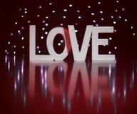 Lettres actuelles de Saint Valentin je t'aime avec le fond rouge Photographie stock