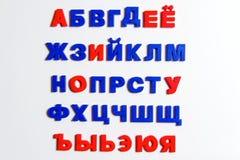 Lettres, alphabet cyrillique Photos libres de droits