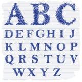 Lettres anglaises décoratives tirées par la main Images stock