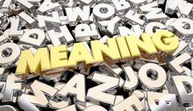Lettres brouillées secrètes Word de message de signification Image libre de droits