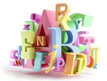 Lettres colorées Photos stock