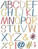 Lettres colorées de l'alphabet illustration libre de droits