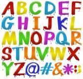 Lettres colorées par arc-en-ciel de l'alphabet illustration libre de droits