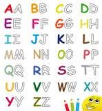 Lettres colorées et blanc d'alphabet Images stock