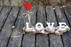 Lettres définissant l'amour de mot Photos libres de droits