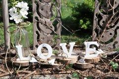 Lettres définissant l'amour de mot Photo stock