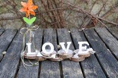 Lettres définissant l'amour de mot Images libres de droits