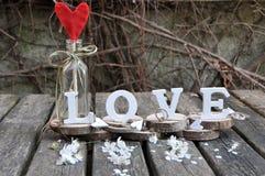 Lettres définissant l'amour de mot Image libre de droits