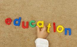 Lettres d'éducation Images libres de droits