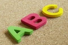 Lettres d'ABC Photo libre de droits