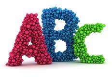 Lettres d'ABC Photographie stock